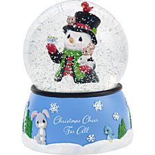9th Annual Snowman Series Christmas Cheer Musical Snow Globe