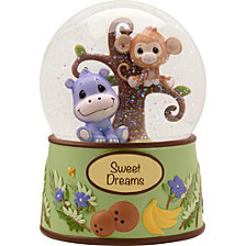 Precious Paws Sweet Dreams Snow Globe