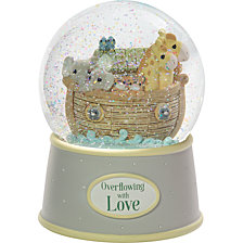Overflowing With Love Noah's Ark Musical Snow Globe