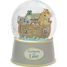 Precious Moments Overflowing With Love Noah's Ark Musical Snow Globe