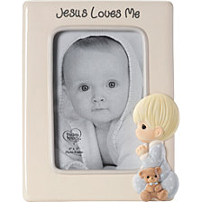Jesus Loves Me Praying Boy 4 x 6 Photo Frame