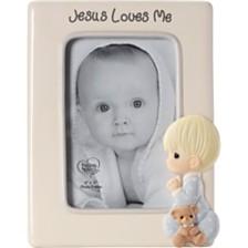 Jesus Loves Me Praying Boy 4 x 6 Photo Frame