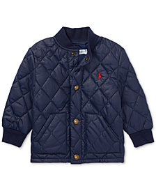 Ralph Lauren Baby Boys Quilted Baseball Jacket