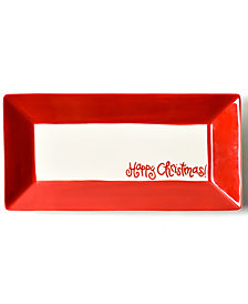 Coton Colors Happy Christmas Collection White Colorblock Scoop Tray