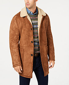Lauren Ralph Lauren Men's Lefferts Classic-Fit Faux-Shearling Overcoat
