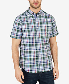 Nautica Men's Classic-Fit Plaid Poplin Shirt