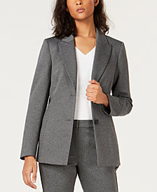 Bar III Two-Button Herringbone Blazer, Created for Macy's