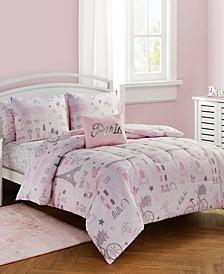 Love Paris 7 Pc Full Comforter Set