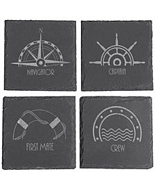 Cathy's Concepts Nautical Slate Coasters, Set of 4
