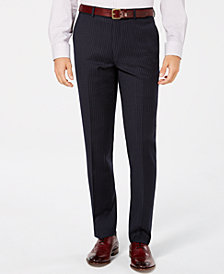 Bar III Men's Slim-Fit Stretch Blue Stripe Suit Pants, Created for Macy's