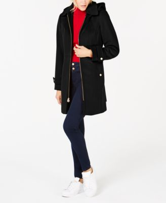 Hooded Stand-Collar Coat
