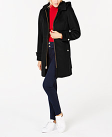 MICHAEL Michael Kors Hooded Stand-Collar Coat