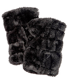 I.N.C. Faux-Fur Fingerless Gloves, Created for Macy's
