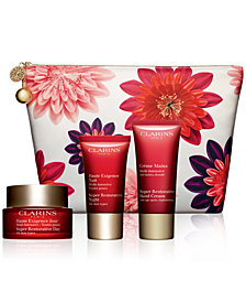 Clarins 4-Pc. Super Restorative Skin Solutions Set
