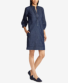 Lauren Ralph Lauren Cotton Denim Shift Dress