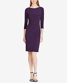 Lauren Ralph Lauren Petite Print Stretch Jersey Dress