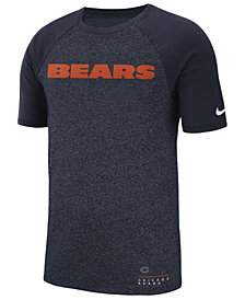 Nike Men's Chicago Bears Marled Raglan T-Shirt
