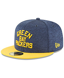 New Era Boys' Green Bay Packers On Field Sideline Home 59FIFTY Fitted Cap
