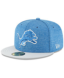 New Era Boys' Detroit Lions On Field Sideline Home 59FIFTY FITTED Cap