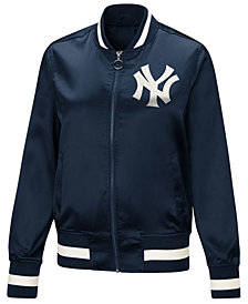 Touch by Alyssa Milano Women's New York Yankees Touch Satin Bomber Jacket