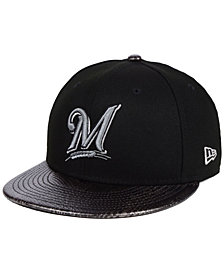 New Era Milwaukee Brewers Snakeskin Sleek 59FIFTY FITTED Cap