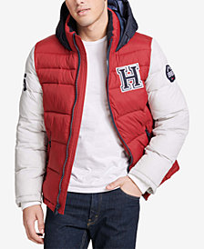 Tommy Hilfiger Men's Varsity Hooded Puffer Jacket, Created for Macy's