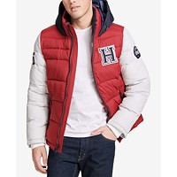 Tommy Hilfiger Mens Varsity Hooded Puffer Jacket