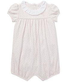 Ralph Lauren Baby Girls Floral-Ruffled Romper