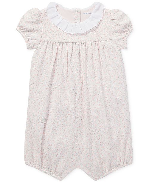 78797975b13 Ralph Lauren Baby Girls Floral-Ruffled Romper. Be the first to Write a  Review. main image