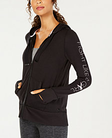 Ideology Breast Cancer Research Foundation Zip Hoodie, Created for Macy's