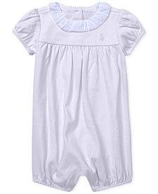 Ralph Lauren Baby Girls Ruffled Romper