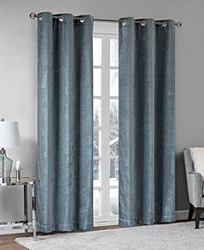 Luxe Chenille Grommets Window Curtain Pairs