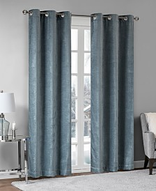 Madison Park Luxe Chenille Grommets Window Curtain Pairs