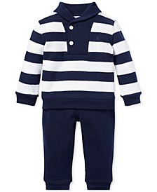 Baby Boys Cotton Striped Top & Pants Set