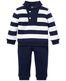 Baby Boys Cotton Striped Top & Pants Set