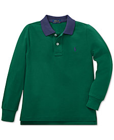 Polo Ralph Lauren Toddler Boys Cotton Long-Sleeve Polo Shirt