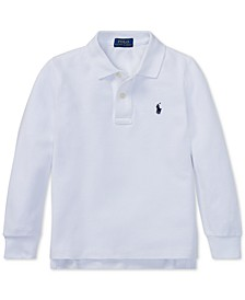 Toddler Boys Cotton Long-Sleeve Polo Shirt
