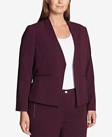 Calvin Klein Plus Size Asymmetrical Jacket