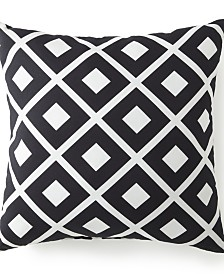 "Blue Falls Square Cushion - Diamond - 20""x20"""