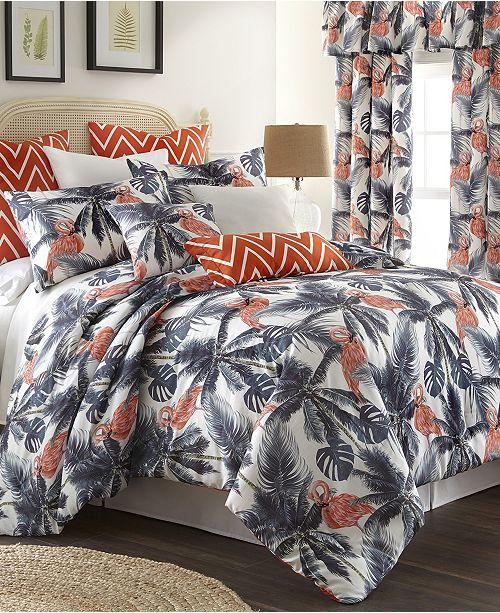 Colcha Linens Flamingo Palms Comforter Set-Queen