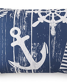 Nautical Board Pillow Sham Standard/Queen