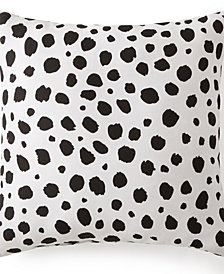 "Animal Spots Black & White Square Cushion 18""x18"""