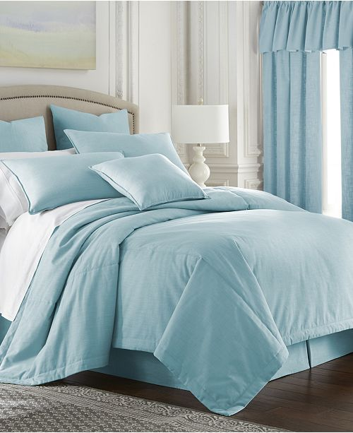 Colcha Linens Cambric Aqua Coverlet-King/California King