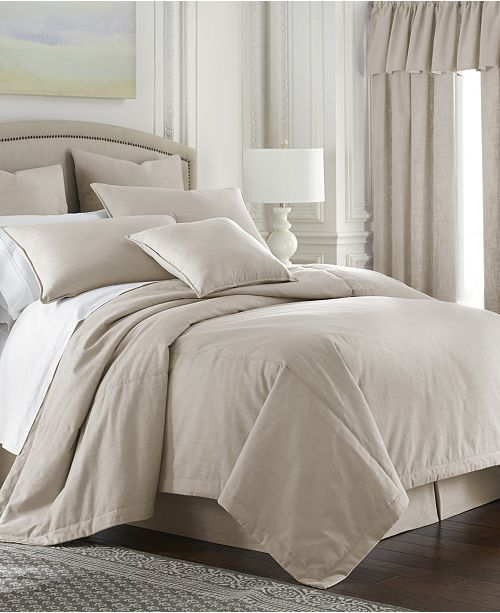 Colcha Linens Cambric Natural Coverlet-Twin