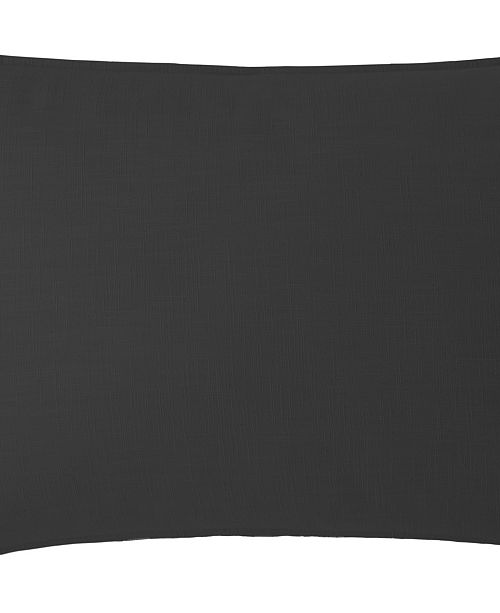 Colcha Linens Cambric Black Pillow Sham-Queen