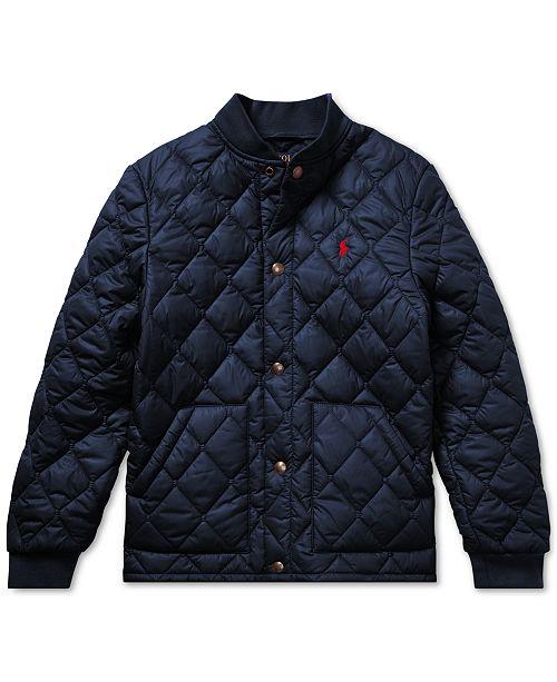 df68129941 Polo Ralph Lauren Big Boys Quilted Baseball Jacket & Reviews - Coats ...