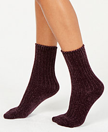 HUE® Chenille Plush Socks