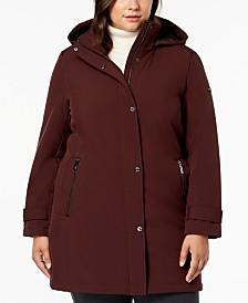 Calvin Klein Plus Size Water Resistant Hooded Raincoat