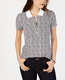 Tommy Hilfiger Engineered Houndstooth Plaid Polo Shirt, Created for Macy's