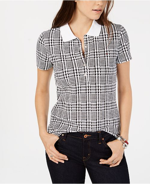 50769ce8 ... Tommy Hilfiger Engineered Houndstooth Plaid Polo Shirt, Created for  Macy's ...